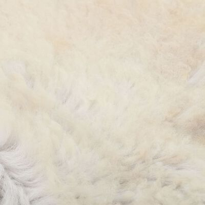 vidaXL Fårskinn gräddvit 70x100 cm