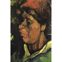 Head of a Peasant Woman with Dark Cap,Vincent Van Gogh,38.5x26.5cm