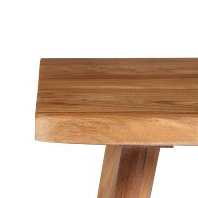 vidaXL Skrivbord massivt akaciaträ 110x50x76 cm