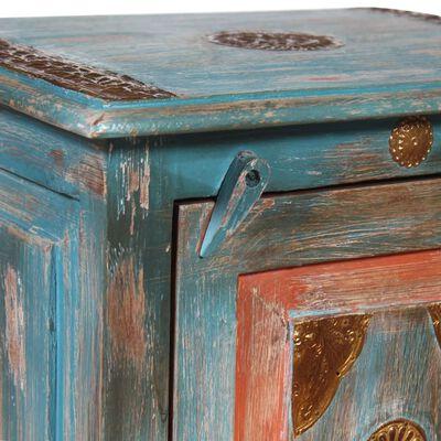 vidaXL Nattduksbord massivt mangoträ blå