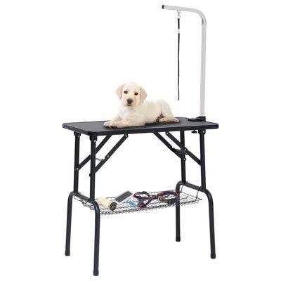vidaXL Trimbord för hundar med 1 koppel och korg
