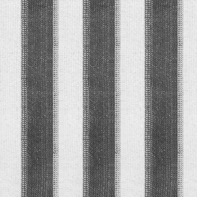 vidaXL Rullgardin utomhus 100x140 cm antracit och vita ränder