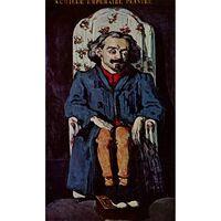 Portrait of Achille Emperaire,Paul Cezanne,60x40cm