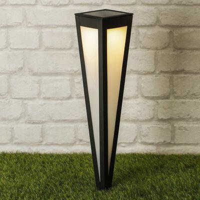 HI Soldriven LED-trädgårdslampa med markspett 58 cm svart