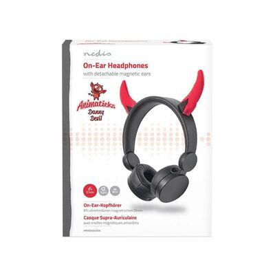 On-ear hörlurar med avtagbara horn