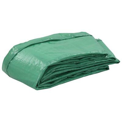 vidaXL Kantskydd PE grön för 10 fot/3,05 m rund studsmatta