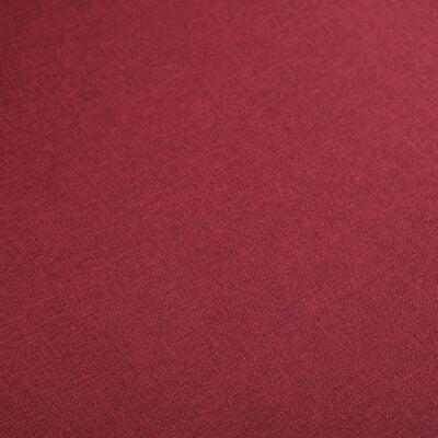 vidaXL Matstolar 2 st röd tyg och massiv ek