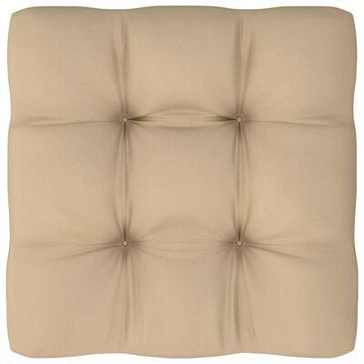 vidaXL Dyna till pallsoffa beige 60x60x12 cm