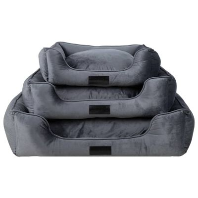 "DISTRICT70 Pet Bed ""VELURO"" Grey M"