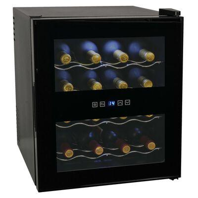 vidaXL Vinkyl med LCD-display 16 flaskor 48 L