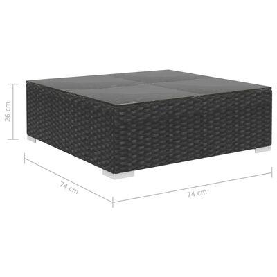 vidaXL Loungegrupp för trädgården med dynor 8 delar konstrotting svart