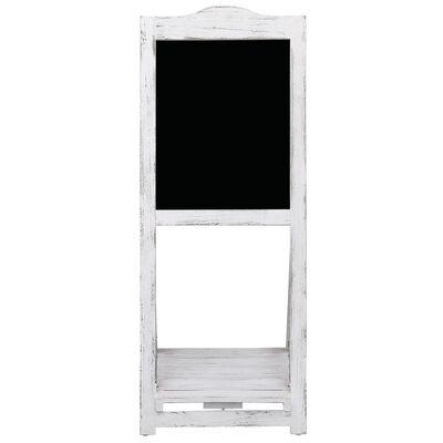 vidaXL Svarta tavlan med stativ vit 42x44x112 cm trä