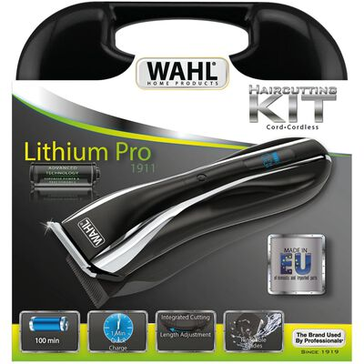Wahl Hårklippare Lithium Pro LCD set 13 delar 6W