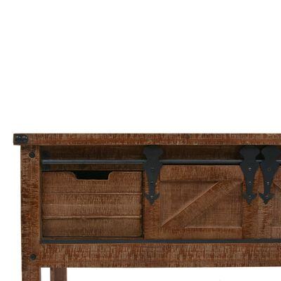 vidaXL Konsolbord massivt granträ 131x35,5x75 cm brun,