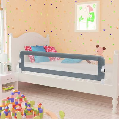 vidaXL Sängskena för barn grå 120x42 cm polyester