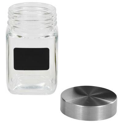 vidaXL Förvaringsburkar i glas med etiketter 24 st 300 ml