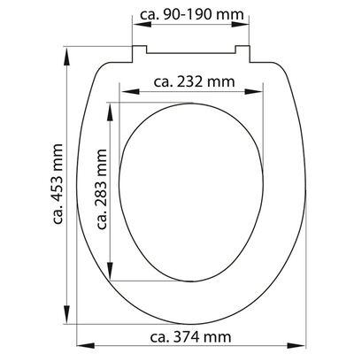 SCHÜTTE Toalettsits med mjuk stängning duroplast SEA STAR