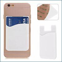 2x Silikonsocka plånbokskort med kontrastficka vit
