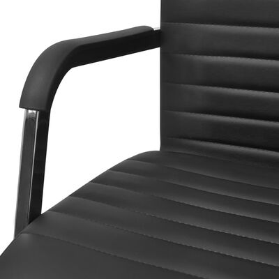 vidaXL Kontorsstol 55x63 cm konstläder svart