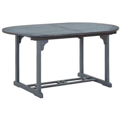 vidaXL Trädgårdsbord grå 200x100x74 cm massivt akaciaträ