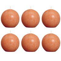 Bolsius Blockljus klotformat 80 mm orange 6-pack