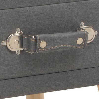 vidaXL Sängbord mörkgrå 40x35x40 cm tyg