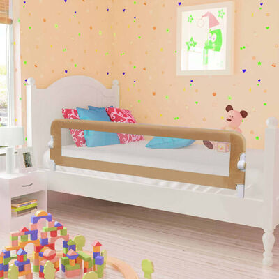 vidaXL Sängskena för barn taupe 150x42 cm polyester