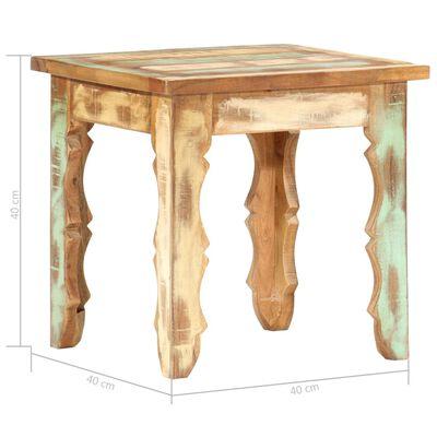 vidaXL Soffbord 40x40x40 cm massivt återvunnet trä