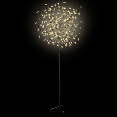 vidaXL Plastgran LED körsbärsblommor varmvitt ljus 180 cm