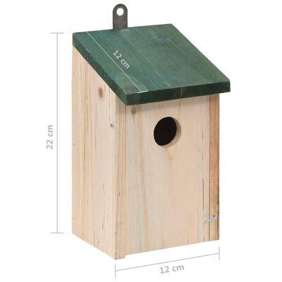 vidaXL Fågelholkar 4 st trä 12x12x22 cm