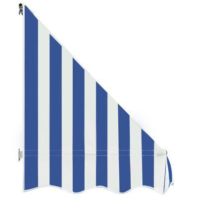 vidaXL Markis 250x120 cm blå och vit