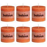 Bolsius Blockljus 6-pack 100x100 mm orange