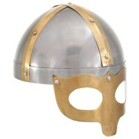 vidaXL Vikingahjälm för LARP silver stål