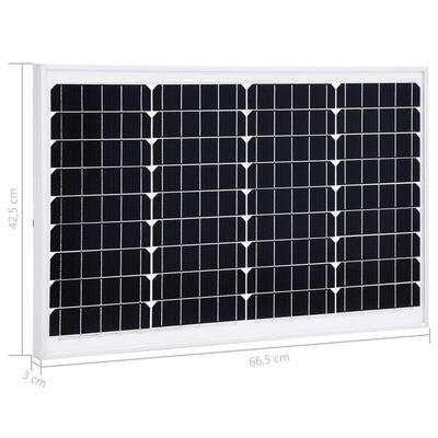 vidaXL Solpanel 40 W monokristallin aluminium och säkerhetsglas