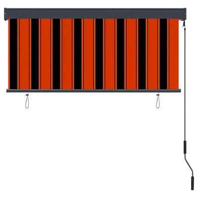 vidaXL Rullgardin utomhus 140x250 cm orange och brun