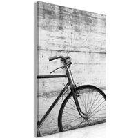 Tavla - Bicycle And Concrete (1 Part) Vertical - 60x90 Cm
