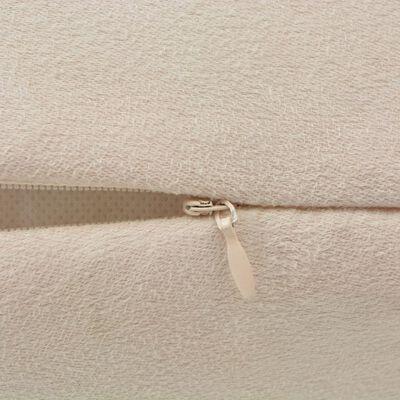 vidaXL Kuddöverdrag 4 st 80x80 cm polyester mockaimitation beige
