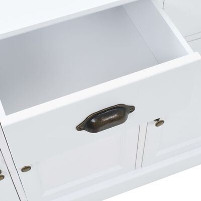 vidaXL Skänk med 3 dörrar MDF och furu 105x35x77,5 cm