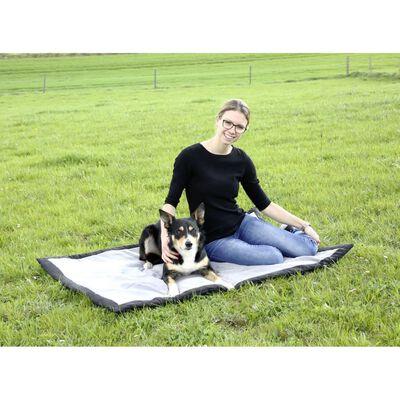 Kerbl Resefilt för hundar 140x100 cm grå och svart 81265