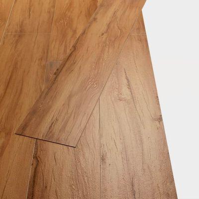 vidaXL Golvbrädor i PVC 5,26 m² 2 mm naturlig alm