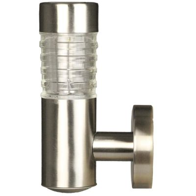 Luxform Trädgårdslampa solcell LED vägglampa Tacoma 2 st silver 34245