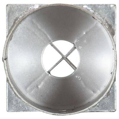 vidaXL Jordspett 2 st silver 10x76 cm galvaniserat stål
