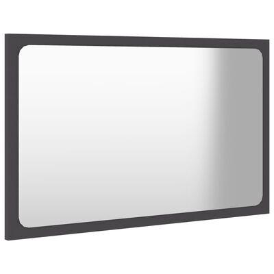 vidaXL Badrumsspegel grå 60x1,5x37 cm spånskiva, Grey
