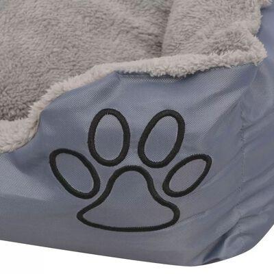 vidaXL Hundbädd med vadderad kudde storlek  XXL grå