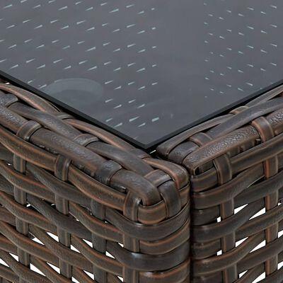vidaXL Trädgårdsbord brun 75x40x37 cm konstrotting