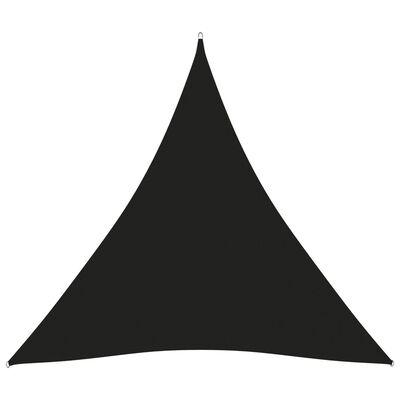 vidaXL Solsegel oxfordtyg trekantigt 3,6x3,6x3,6 m svart