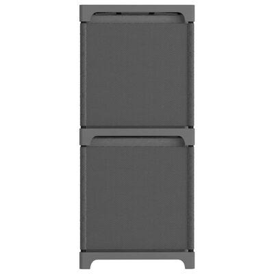 vidaXL Hylla med 6 kuber med lådor grå 103x30x72,5 cm tyg