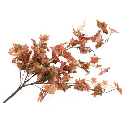 kvidaXL Konstgjorda blad vindruva 2 st röd 90 cm