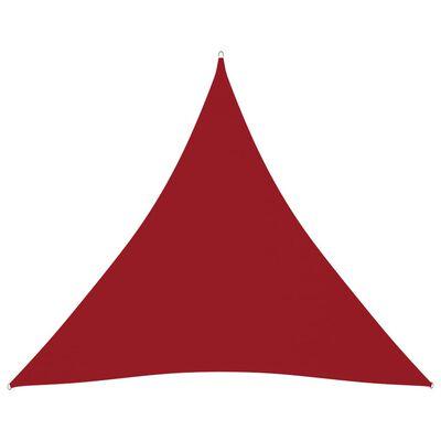 vidaXL Solsegel oxfordtyg trekantigt 4x4x4 m röd