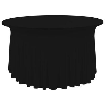 vidaXL Bordsöverdrag 2 st stretch golvlångt svart 120x74 cm